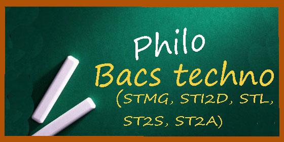 Les sujets et corrigés de philo en séries technos (STMG, STL, ST2S, STI2D, STD2A)