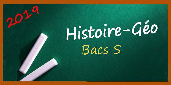 Les sujets et corrigés d'histoire-géo pour la série S