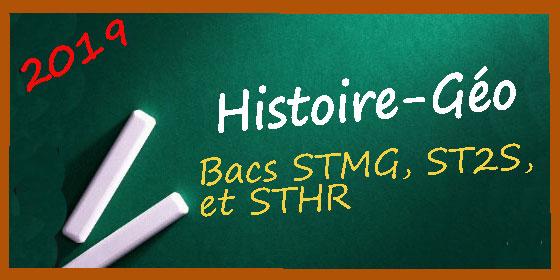 Les corrigés des sujets d'histoire-géo pour les séries STMG, ST2S, STHR