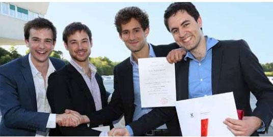 Des jeunes diplômés de l'Ecole polytechnique © plaquette pdf