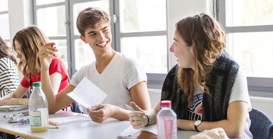Etudiants de Tremplin 2019. Des effectifs à taille humaine favorisent les relations et le travail de groupe © Théophile Trossat