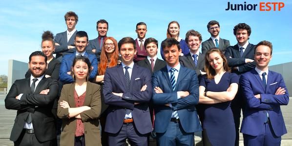 L'équipe de la Junior-entreprise de l'ESTP, Ecole supérieures des travaux publics. © juniorestp.com