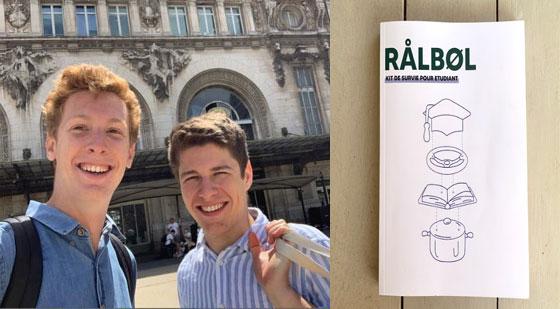 """Joseph Reinhart et Arthur Presse, les deux auteurs du guide étudiant """"Ralbol"""". © Droits réservés"""