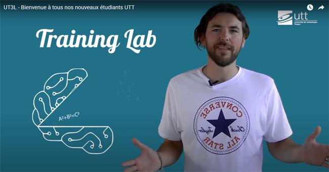 Ecran d'accueil de la plateforme de révision de l'UTT © capture écran Youtube