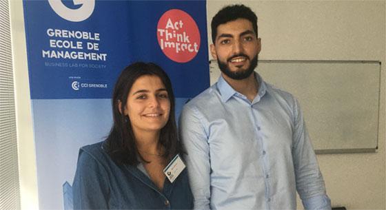 Manon et Nidhal, deux étudiants de GEM en double diplôme Droit-Management. © reussirmavie.net