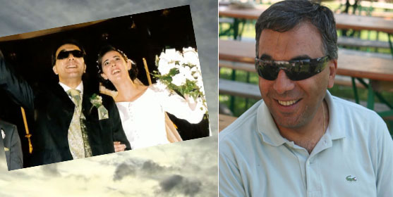 Fouad Hassoun vit désormais en France. A g. : le jour de son mariage à Beyrouth.