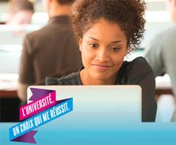 Affiche de la campagne pour l'université.