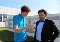 Avec le directeur du Genopôle Entreprises à Evry