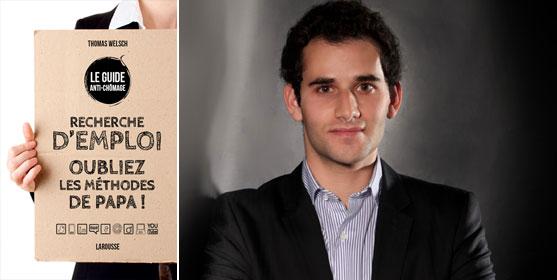 """Thomas Welsch, auteur du """"Guide anti-chômage"""" a décroché le premier emploi qu'il visait avant la fin de ses études. Photo : DR"""