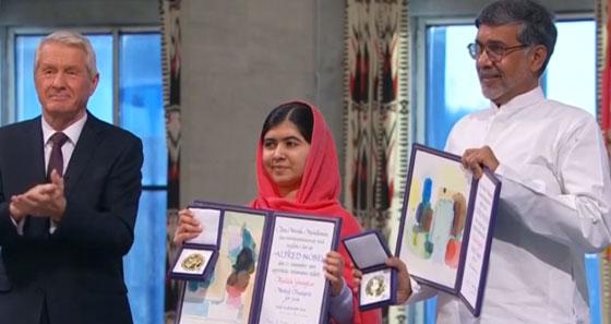 Malala reçoit le Prix Nobel de la Paix à Oslo
