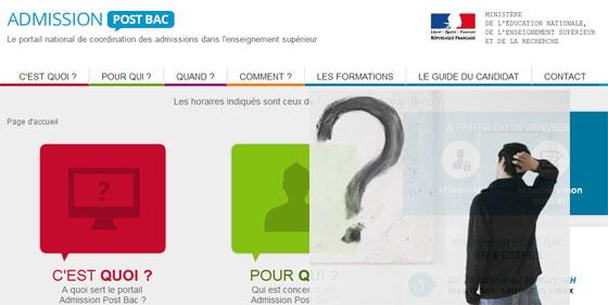 APB : le choix des voeux ouvert sur le site admission postbac