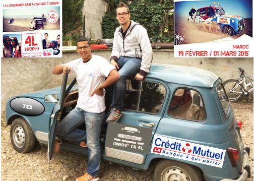 Alexandre Papon et Okba Telli tous deux en licence 3 Management des équipes Qualité et Développement durable à l'IAE de Lyon (équipage 723).