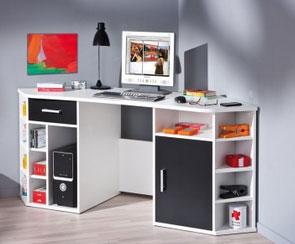 Bonne idée, le bureau d'angle. Vu sur unmaxdidees.com
