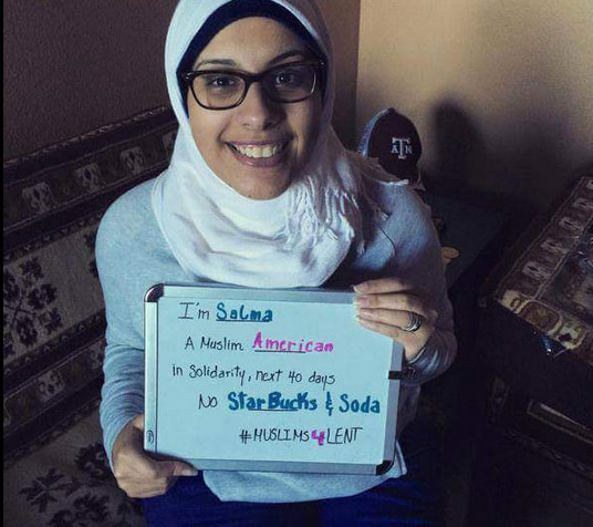 Photo : Twitter #Muslims4Lent