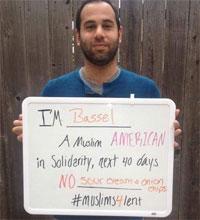 Bassel Riche, à l'intiative de la campagne #Muslims4Lent
