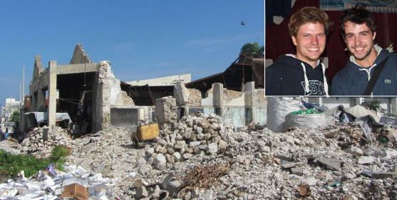 Le centre de Port-au-Prince à Haïti en mai 2014 lors du passage d'Antoine et Félix.  Photo : Build Back Better