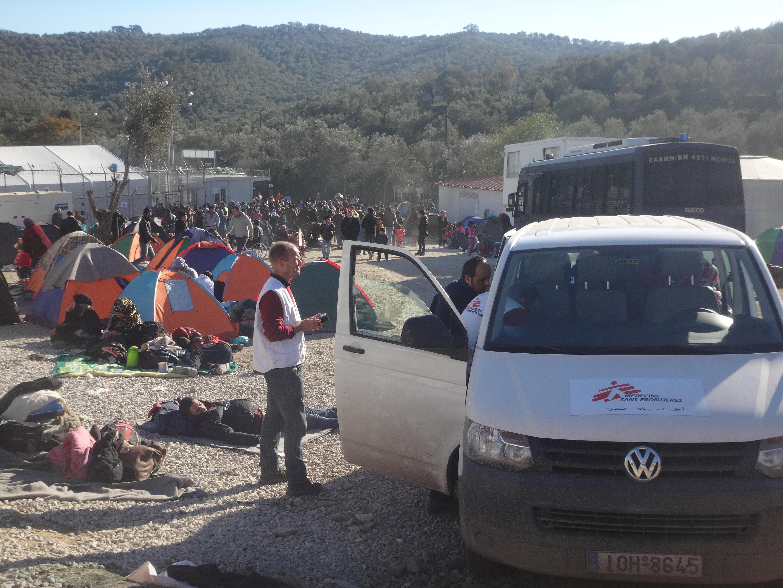 Camp de migrants en Grèce (J-N.D)