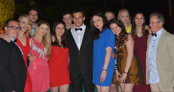 Les étudiants et leurs formateurs du groupe MediaSchool à Cannes. Crédit : Mediaschool Group