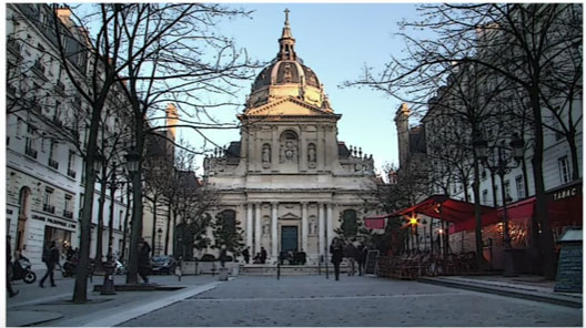 L'université Paris Sorbonne.