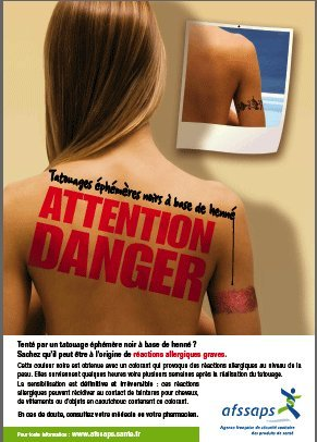 Tatouages au henné : gare aux allergies !