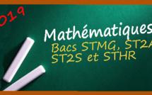 Les corrigés des sujets de maths pour les séries STMG, STD2A, ST2S, STHR
