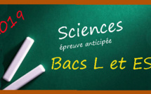 Corrigés de l'épreuve anticipée de sciences pour les bacs L et ES